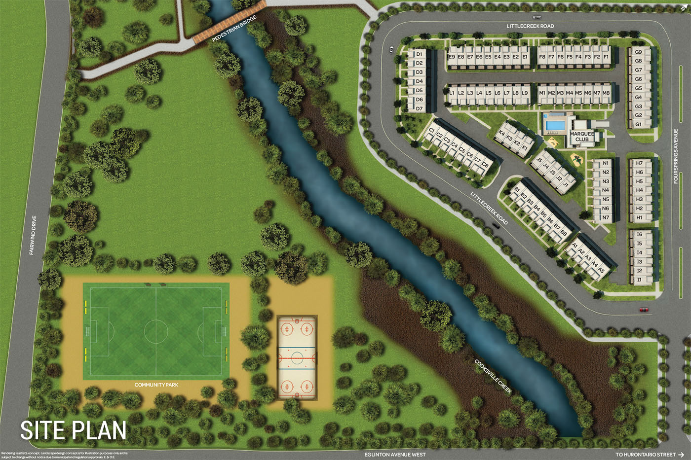 marquee townhomes Marquee Townhomes Mississauga marquee townhomes site plan