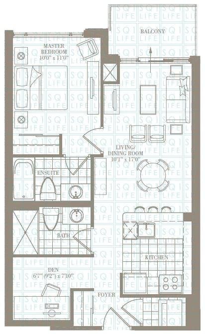 1+1-Bed-2-Bath-The-RoseHill-696-sqft chicago condo Chicago Condo 1 1 Bed 2 Bath The RoseHill 696 sqft