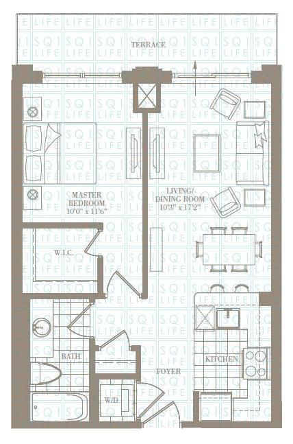 1-Bed-1-Bath-The-Adams-625-sqft chicago condo Chicago Condo 1 Bed 1 Bath The Adams 625 sqft