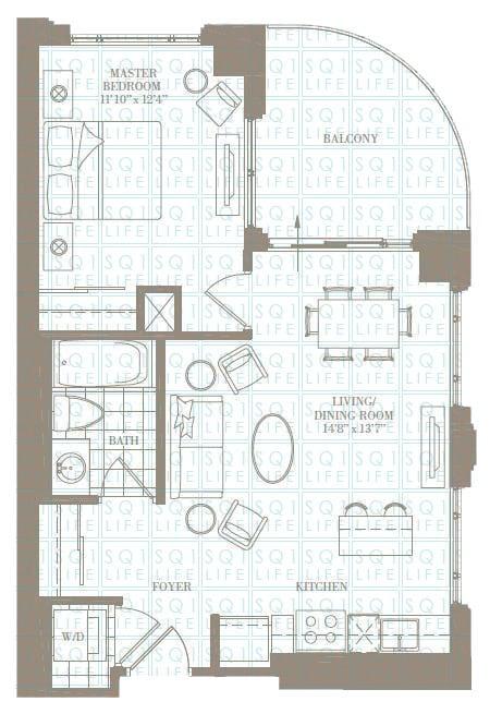 1-Bed-1-Bath-The-Auburn-646-sqft chicago condo Chicago Condo 1 Bed 1 Bath The Auburn 646 sqft