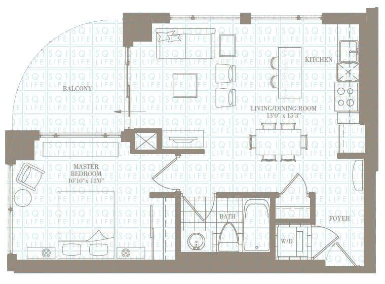 1-Bed-1-Bath-The-MontClair-620-sqft chicago condo Chicago Condo 1 Bed 1 Bath The MontClair 620 sqft