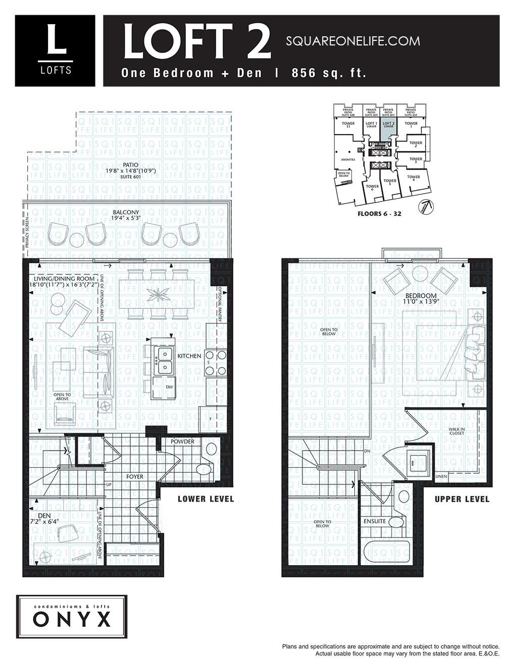 223-Webb-Dr-Onyx-Condo-Floorplan-Loft-2-1-Bed-1-Den onyx condo Onyx Condo 223 Webb Dr Onyx Condo Floorplan Loft 2 1 Bed 1 Den