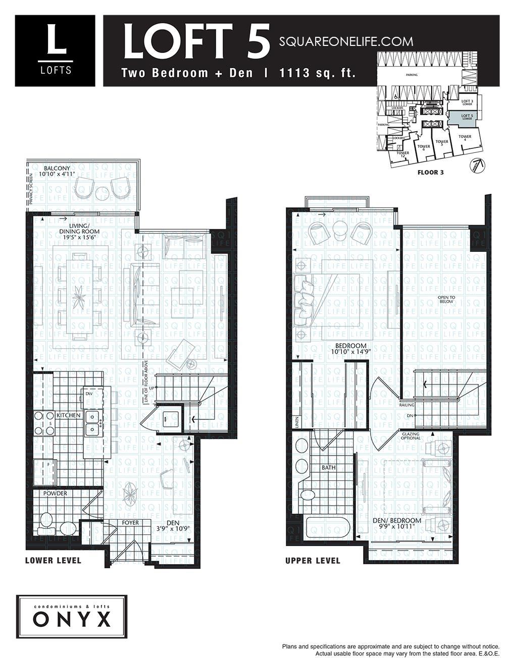 223-Webb-Dr-Onyx-Condo-Floorplan-Loft-5-2-Bed-1-Den onyx condo Onyx Condo 223 Webb Dr Onyx Condo Floorplan Loft 5 2 Bed 1 Den