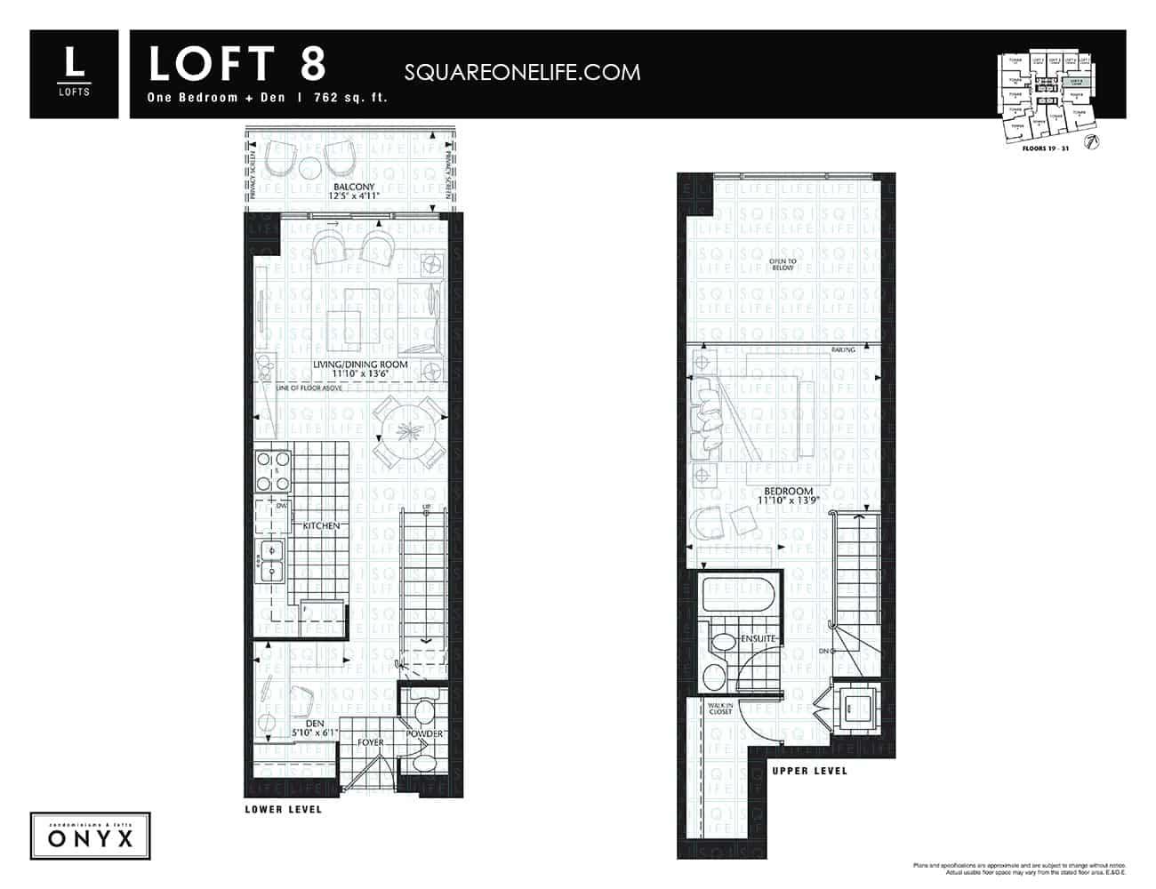223-Webb-Dr-Onyx-Condo-Floorplan-Loft-8-1-Bed-1-Den onyx condo Onyx Condo 223 Webb Dr Onyx Condo Floorplan Loft 8 1 Bed 1 Den
