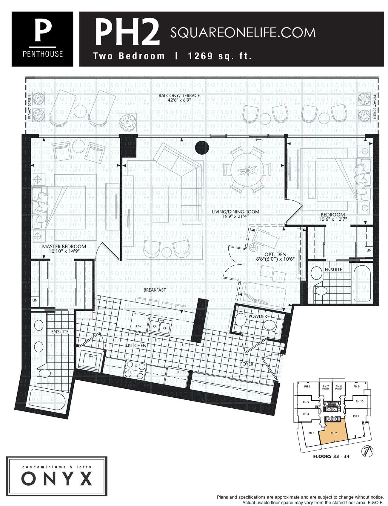 223-Webb-Dr-Onyx-Condo-Floorplan-PH2-2-Bed-1-Den onyx condo Onyx Condo 223 Webb Dr Onyx Condo Floorplan PH2 2 Bed 1 Den