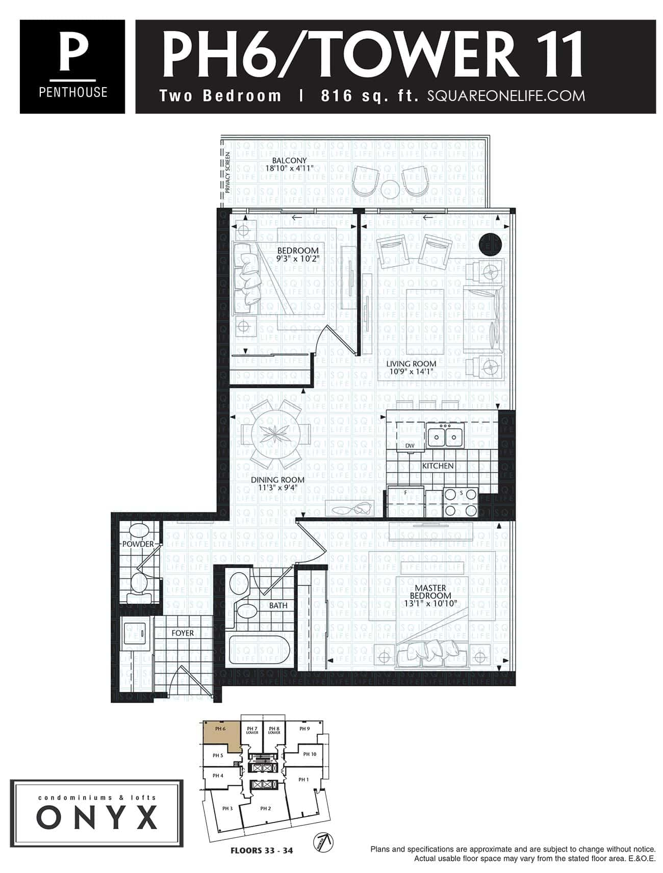 223-Webb-Dr-Onyx-Condo-Floorplan-PH6-2-Bed onyx condo Onyx Condo 223 Webb Dr Onyx Condo Floorplan PH6 2 Bed