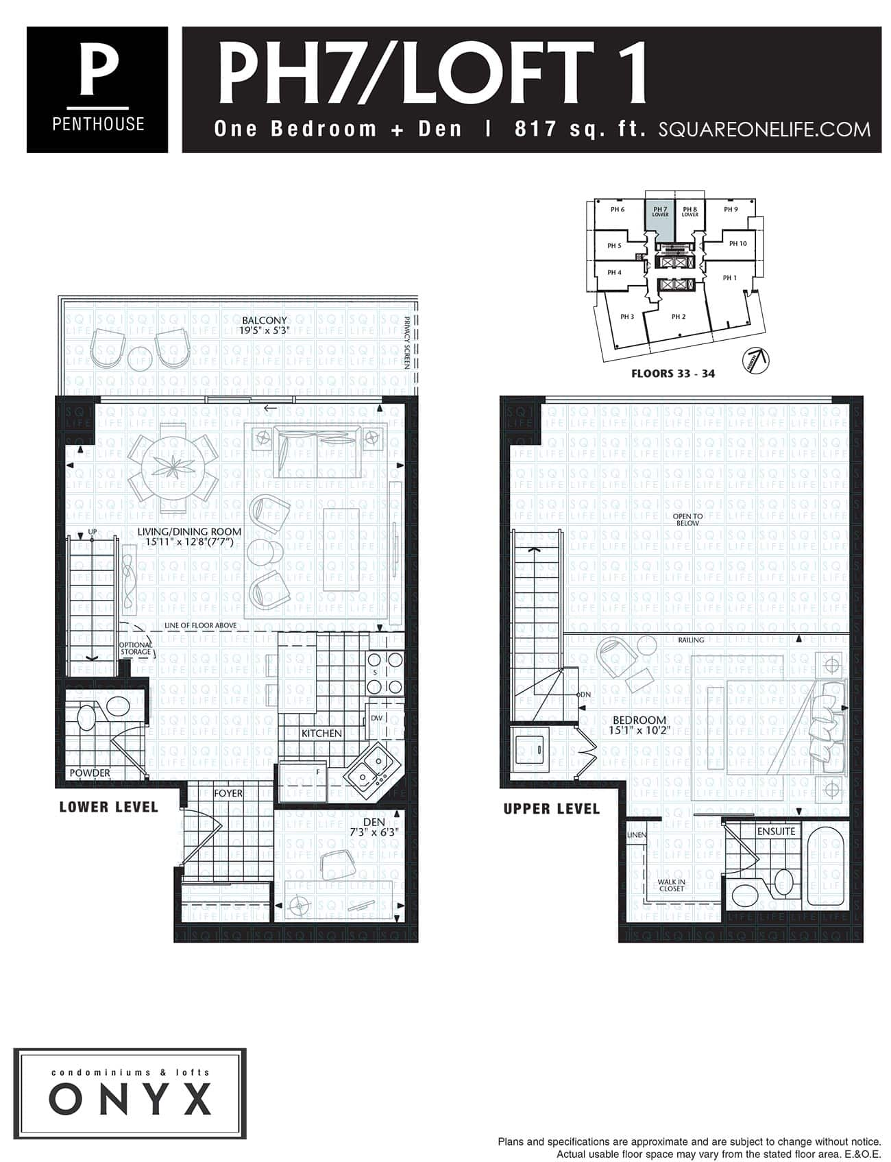 223-Webb-Dr-Onyx-Condo-Floorplan-PH7-2-Bed-1-Den onyx condo Onyx Condo 223 Webb Dr Onyx Condo Floorplan PH7 2 Bed 1 Den