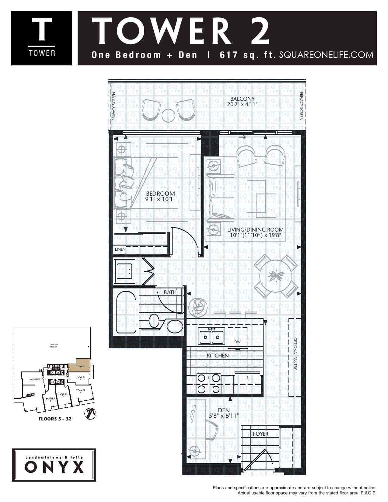 223-Webb-Dr-Onyx-Condo-Floorplan-Tower-2-1-Bed-1-Den-1-Bath onyx condo Onyx Condo 223 Webb Dr Onyx Condo Floorplan Tower 2 1 Bed 1 Den 1 Bath