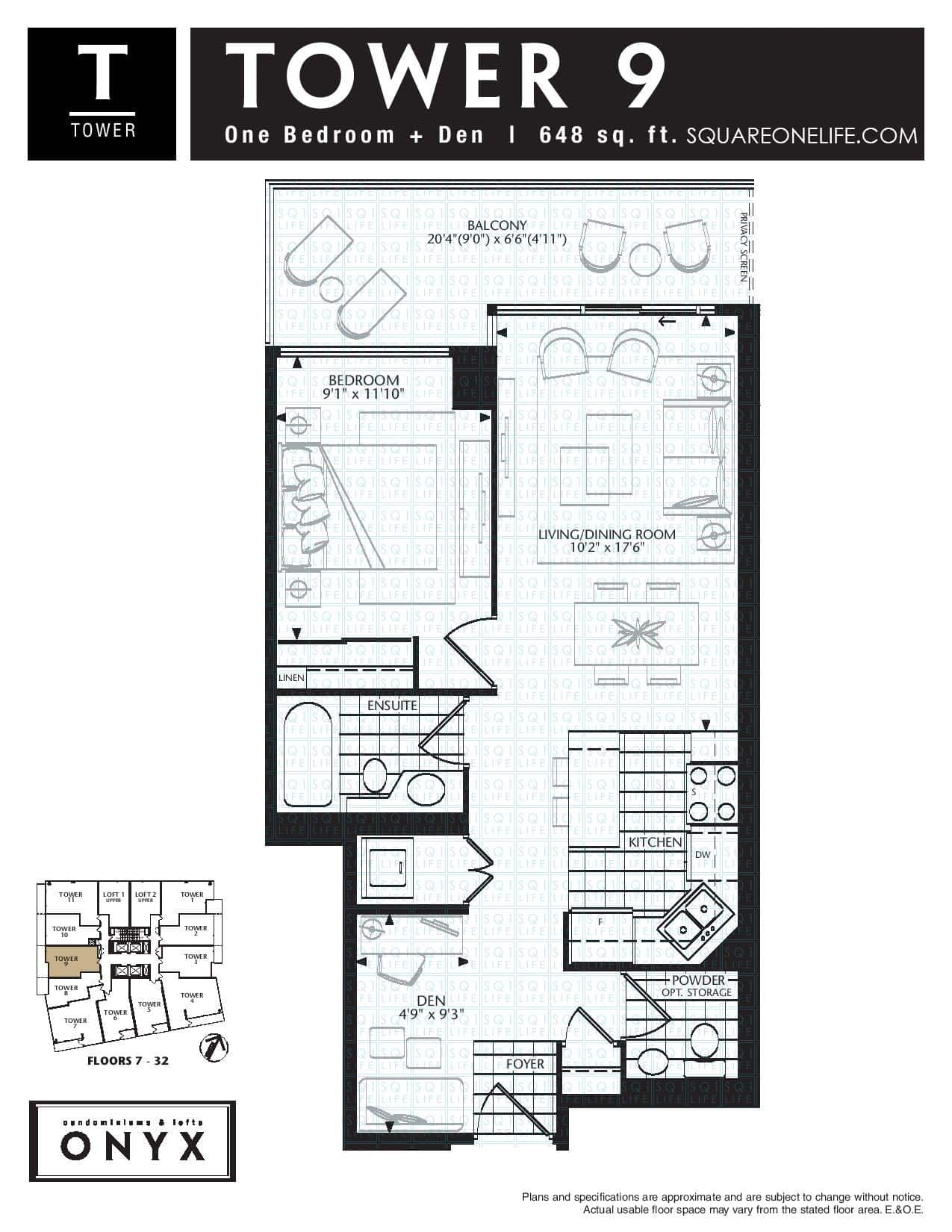 223-Webb-Dr-Onyx-Condo-Floorplan-Tower-9-1-Bed-1-Den-2-Bath onyx condo Onyx Condo 223 Webb Dr Onyx Condo Floorplan Tower 9 1 Bed 1 Den 2 Bath