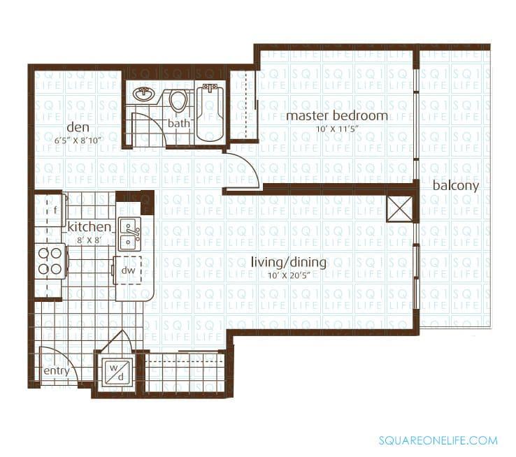 3525-Kariya-Dr-Elle-Condo-Floorplan-1-1-Bed-1-Den-1-Bath elle condo Elle Condo 3525 Kariya Dr Elle Condo Floorplan 1 1 Bed 1 Den 1 Bath
