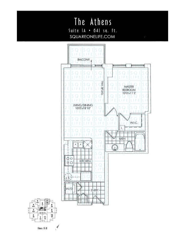 388-Prince-Of-Wales-Dr-One-Park-Tower-Condo-Floorplan-The-Athens-1-Bed-1-Bath one park tower One Park Tower Condo 388 Prince Of Wales Dr One Park Tower Condo Floorplan The Athens 1 Bed 1 Bath