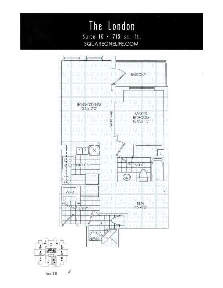 388-Prince-Of-Wales-Dr-One-Park-Tower-Condo-Floorplan-The-London-1-Bed-1-Den-2-Bath one park tower One Park Tower Condo 388 Prince Of Wales Dr One Park Tower Condo Floorplan The London 1 Bed 1 Den 2 Bath