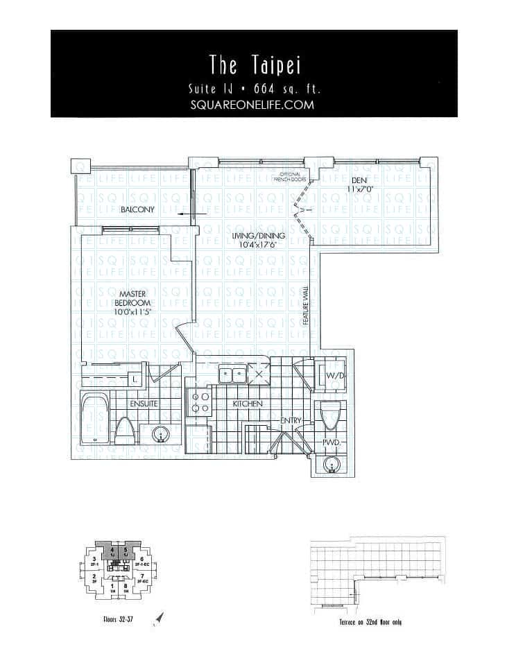 388-Prince-Of-Wales-Dr-One-Park-Tower-Condo-Floorplan-The-Taipei-1-Bed-1-Den-2-Bath one park tower One Park Tower Condo 388 Prince Of Wales Dr One Park Tower Condo Floorplan The Taipei 1 Bed 1 Den 2 Bath