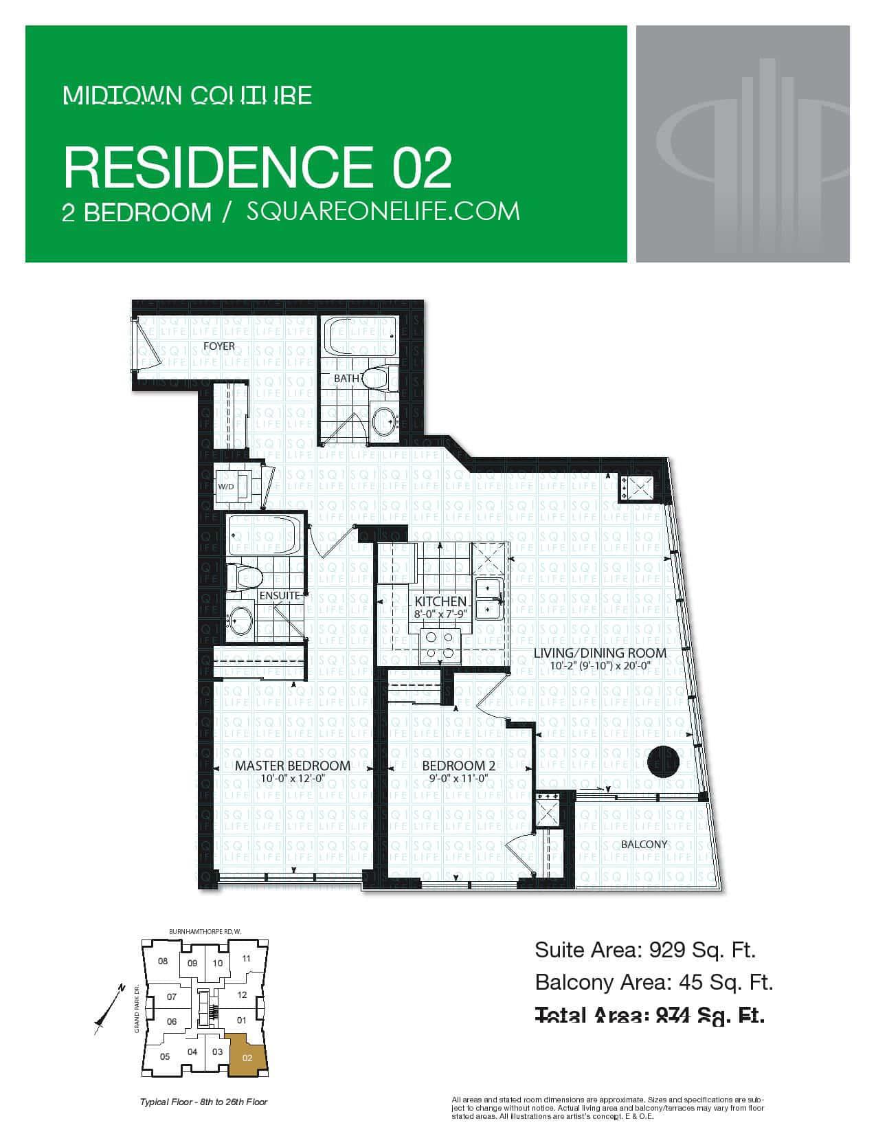 pinnacle grand park condo 3985 grand park dr squareonelife floorplan residence 2 2 bed 2 bath 929 sqft