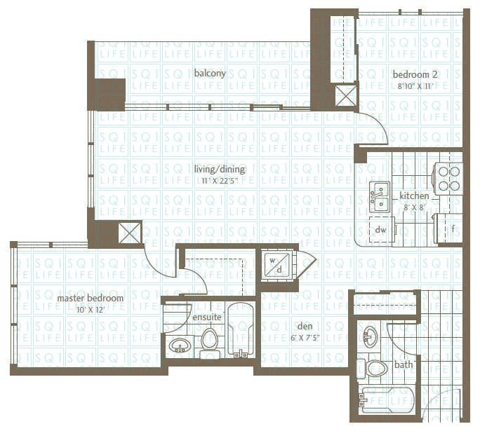 Grand Residences Condo Floorplan 2 - 2 Bed - 1 Den - 2 Bath grand residences condo Grand Residences Condo Grand Residences Condo Floorplan 2 2 Bed 1 Den 2 Bath