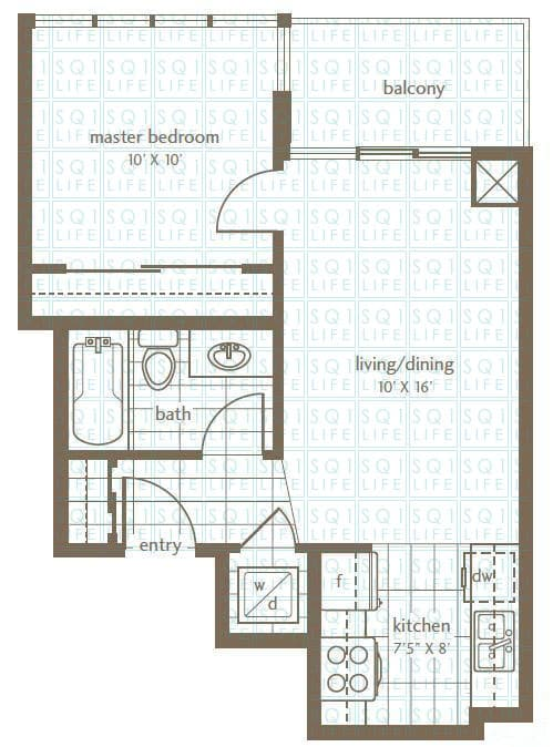 Grand Residences Condo Floorplan 5 - 1 Bed - 1 Bath grand residences condo Grand Residences Condo Grand Residences Condo Floorplan 5 1 Bed 1 Bath