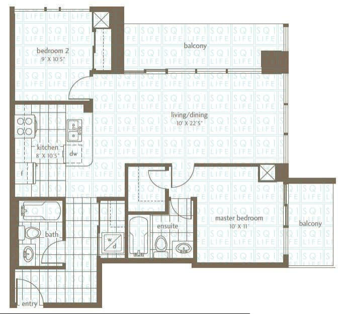 Grand Residences Condo Floorplan 6 - 2 Bed - 2 Bath grand residences condo Grand Residences Condo Grand Residences Condo Floorplan 6 2 Bed 2 Bath