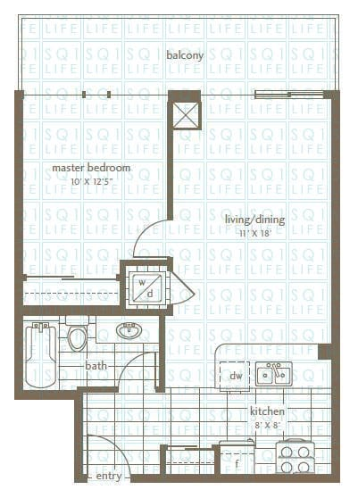 Grand Residences Condo Floorplan 7 - 1 Bed - 1 Bath grand residences condo Grand Residences Condo Grand Residences Condo Floorplan 7 1 Bed 1 Bath