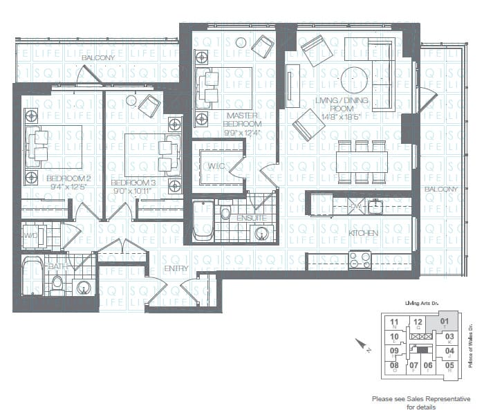 Limelight-Condo-365-Prince-Of-Wales-360-Square-One-Dr-Floorplan-Hunter-3-Bed-2-Bath limelight condos Limelight Condos Limelight Condo 365 Prince Of Wales 360 Square One Dr Floorplan Hunter 3 Bed 2 Bath
