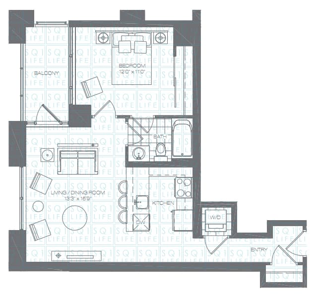 Limelight-Condo-365-Prince-Of-Wales-360-Square-One-Dr-Floorplan-Lily-1-Bed-1-Bath limelight condos Limelight Condos Limelight Condo 365 Prince Of Wales 360 Square One Dr Floorplan Lily 1 Bed 1 Bath