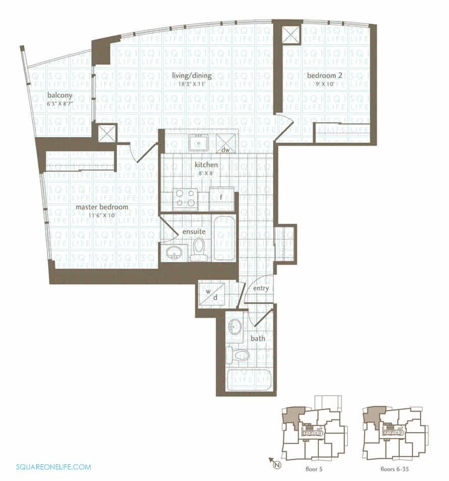 Park-Residences-Condo-Floorplan-Bluejay-2-Bed-2-Bath park residences condo Park Residences Condo Park Residences Condo Floorplan Bluejay 2 Bed 2 Bath