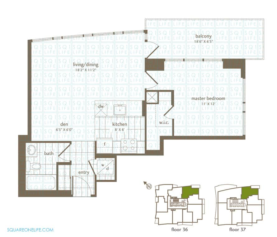 Park-Residences-Condo-Floorplan-LPH1-PH1-1-Bed-1-Den-1-Bath park residences condo Park Residences Condo Park Residences Condo Floorplan LPH1 PH1 1 Bed 1 Den 1 Bath