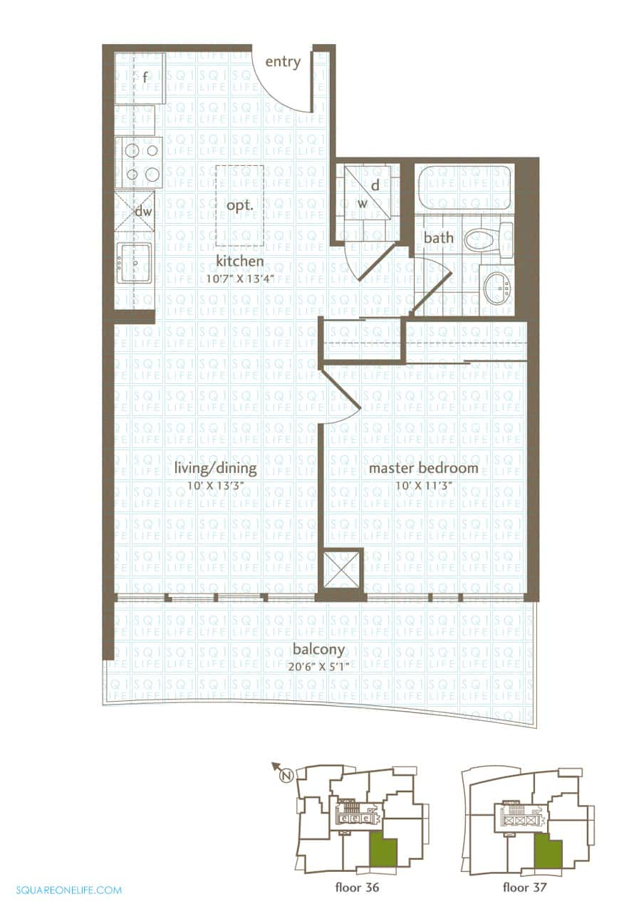 Park-Residences-Condo-Floorplan-LPH4-PH4-1-Bed-1-Bath park residences condo Park Residences Condo Park Residences Condo Floorplan LPH4 PH4 1 Bed 1 Bath