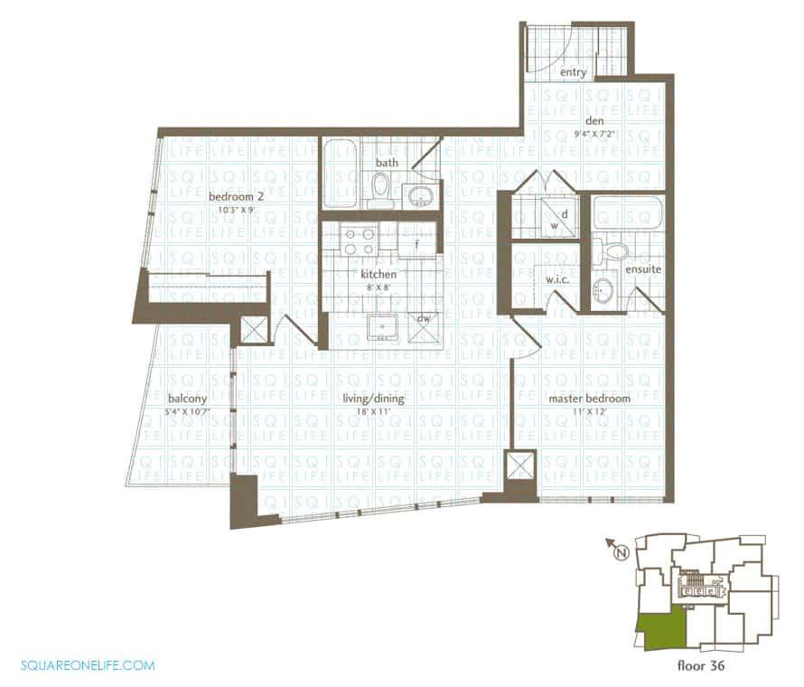 Park-Residences-Condo-Floorplan-LPH6-2-Bed-1-Den-2-Bath park residences condo Park Residences Condo Park Residences Condo Floorplan LPH6 2 Bed 1 Den 2 Bath