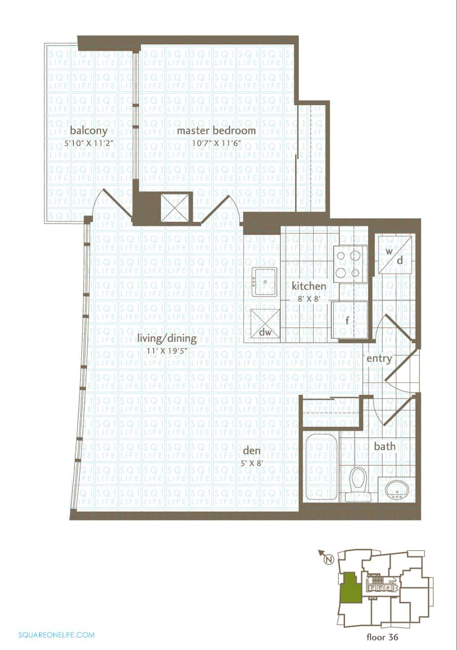 Park-Residences-Condo-Floorplan-LPH7-1-Bed-1-Den-1-Bath park residences condo Park Residences Condo Park Residences Condo Floorplan LPH7 1 Bed 1 Den 1 Bath