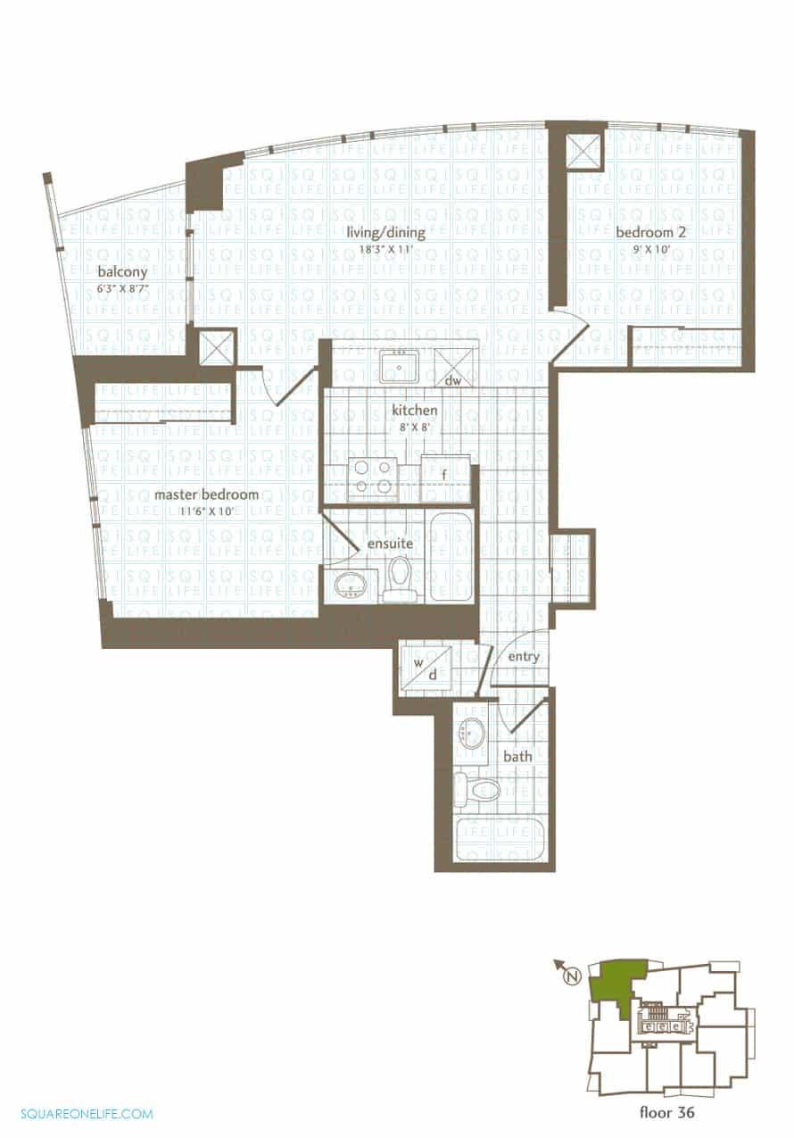 Park-Residences-Condo-Floorplan-LPH8-2-Bed-2-Bath park residences condo Park Residences Condo Park Residences Condo Floorplan LPH8 2 Bed 2 Bath