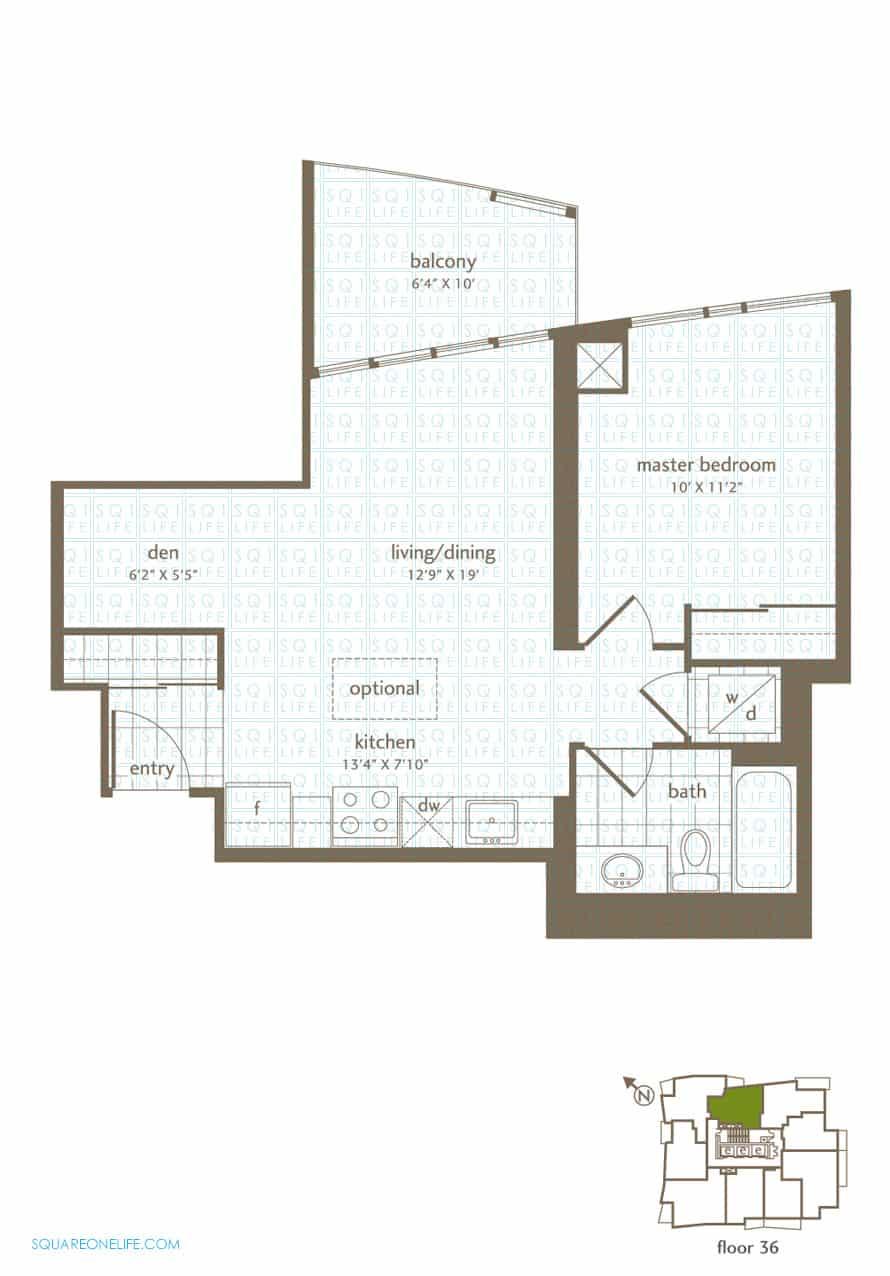 Park-Residences-Condo-Floorplan-LPH9-1-Bed-1-Den-1-Bath park residences condo Park Residences Condo Park Residences Condo Floorplan LPH9 1 Bed 1 Den 1 Bath