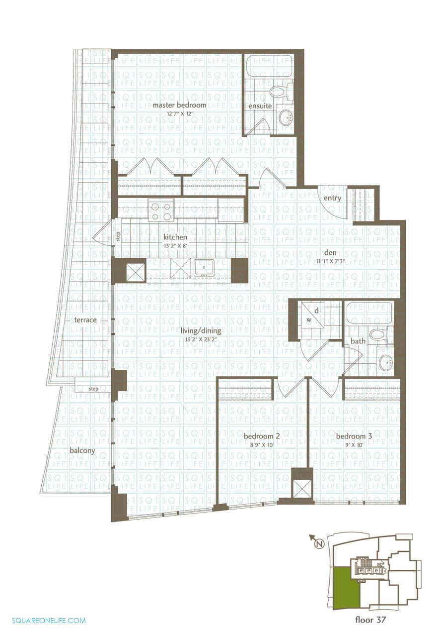 Park-Residences-Condo-Floorplan-PH6-3-Bed-1-Den-2-Bath park residences condo Park Residences Condo Park Residences Condo Floorplan PH6 3 Bed 1 Den 2 Bath