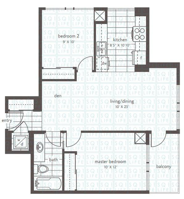 Residences-Condo-LPH8-2-Bed-1-Den-1-Bath residences condo Residences Condo Residences Condo LPH8 2 Bed 1 Den 1 Bath