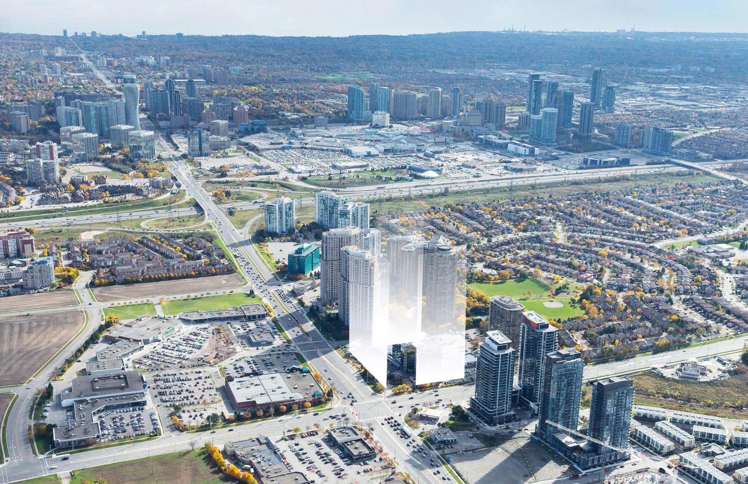 Three Towers at 30 Eglinton Avenue West Mississauga 30 eglinton ave w mississauga condos square one hurontario lrt